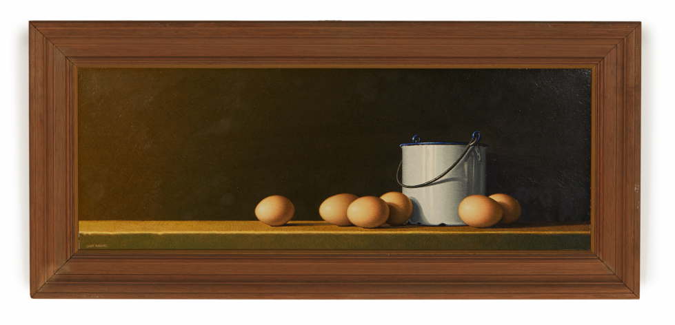 Lot 23 - GEOFF WILLIAMS (NEW ZEALAND, B.1966) - STILL LIFE WITH EGGS