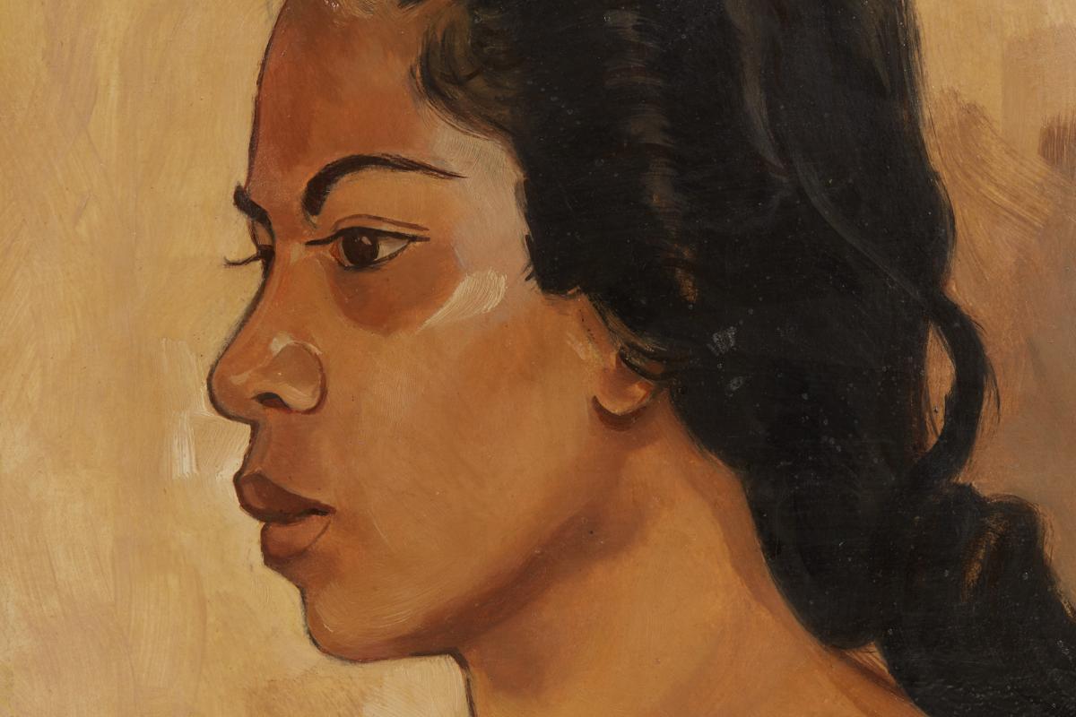 ARTHUR JOHANN JO KÖNIG (GERMAN, ?-1951) - BALINESE WOMAN - Image 2 of 5