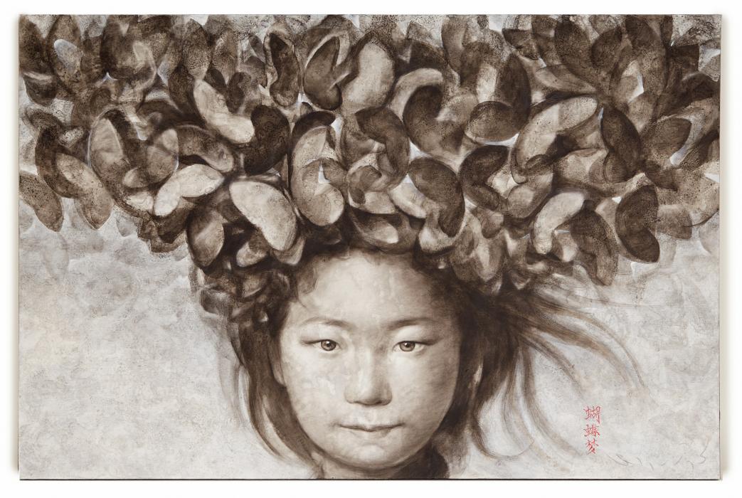 SILAWIT POOL SAWAT (THAI, B.1972) - THAI GIRL WITH BUTTERFLIES ON HAIR - Image 4 of 4