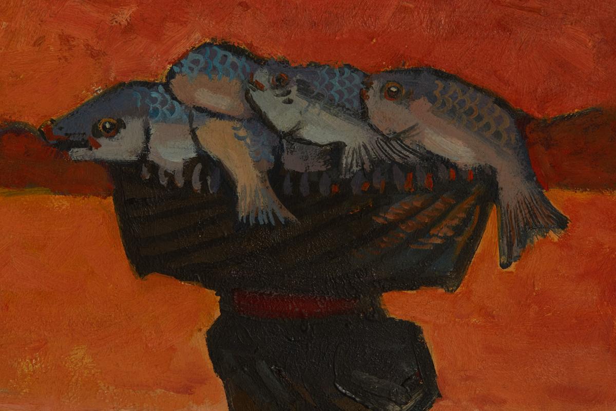 TEE HONG AW (SINGAPOREAN, B.1932) - FISHERMEN'S JOY - Image 9 of 13