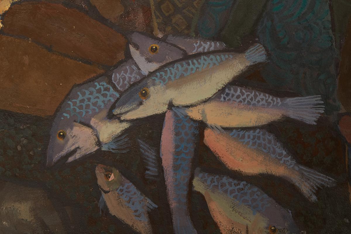 TEE HONG AW (SINGAPOREAN, B.1932) - FISHERMEN'S JOY - Image 4 of 13