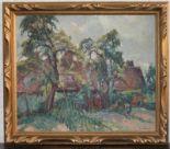 """Lot 107 - Robert Antoine PINCHON (1886-1943) """"La chaumière en pays de Caux"""" huile sur toile [...]"""