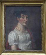 Lot 185 - Ecole Française début 19ème siècle suiveur de Louis Léopold BOILLY, Portrait de [...]