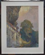 Lot 168 - Robert PINCHON, Paysage, pastel, 63 x 49 cm, signé en bas à gauche -