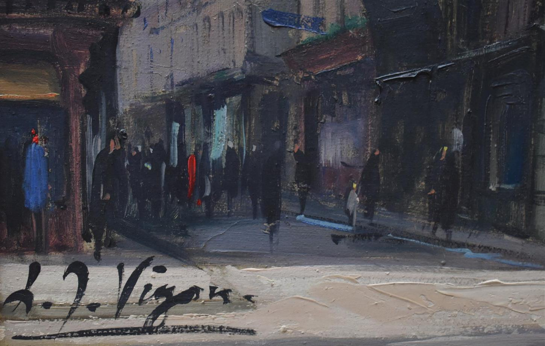 """Lot 320 - Louis Jacques VIGON """"Le Gros Horloge"""" Huile sur toile, signée en bas à droite. 65 x [...]"""
