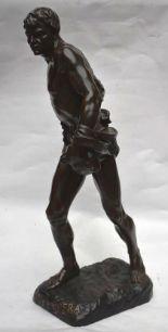 Lot 146 - Henri Désiré GAUQUIE (1858-1927), FAC ET SPERA ou Le Semeur, Épreuve en bronze à [...]