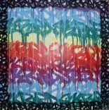 """Lot 214 - SKRED (1988) """"Punition one (2015)"""" Acrylique et encre sur toile. 100 x 100 cm, n° [...]"""