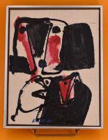 Lot 303 - KNUD NIELSEN (1916-2008) Abstraction, huile sur toile signée en bas à gauche, 35cm [...]