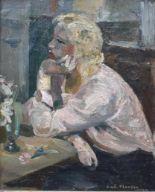 Lot 309 - André PLANSON (1898-1981), Femme assise à une table, 41 x 33 cm, signé et daté en [...]
