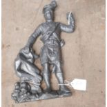 Lot 50R - Antique Cast Iron Highlander Door Stop.
