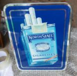 """Lot 50I - Vintage North State Cigarettes Advertising Mirror - 13"""" x 9 3/4"""" immaculate condition."""