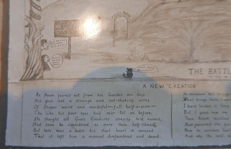Lot 4 - Antique c1900 Albumen Print Photo of The Battle of the Polls Religious Cartoon Banff-Scotland.