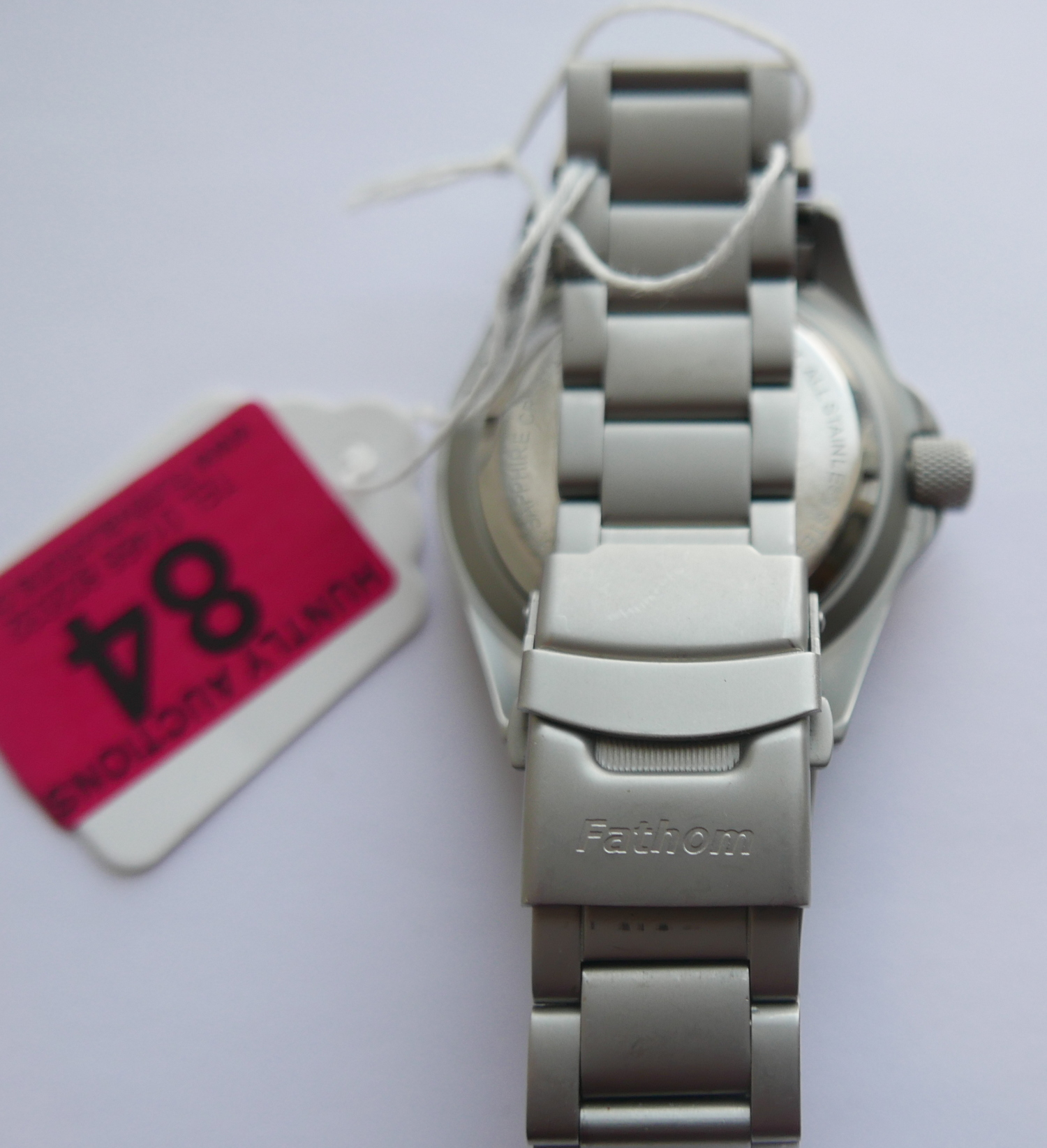 Lot 84 - Fathom Systems Aberdeen Automatic Diving Watch by Microtech H3 Switzerland - working order.