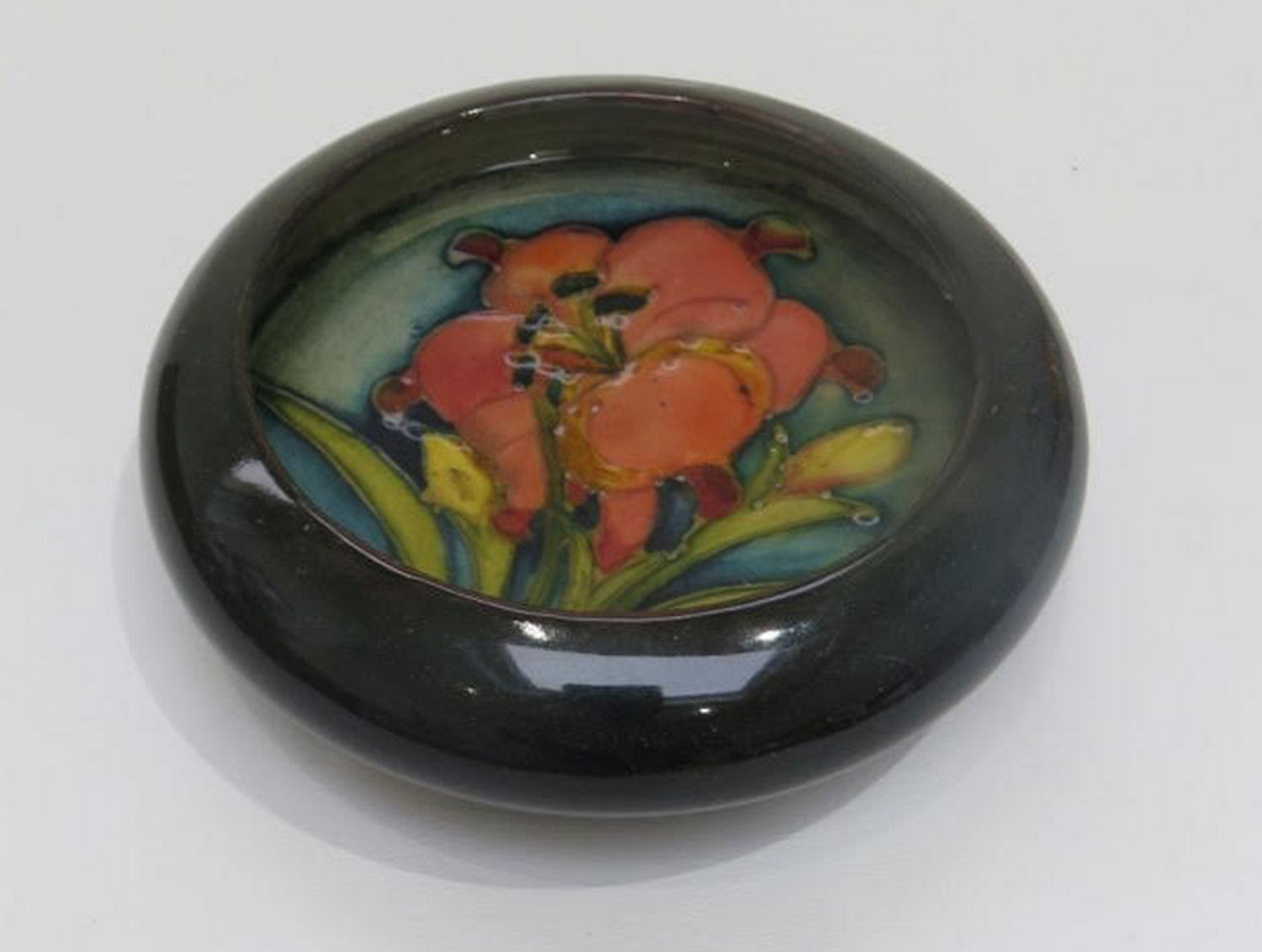 "Lot 89 - Moorcroft c1920 Floral Pattern Pin Dish - 4 1/2"" diameter."