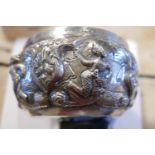 Lot 24 - Antique Indian White Metal Bowl - 150mm diameter - total weight 223 grams - Buffalo Mark to base.