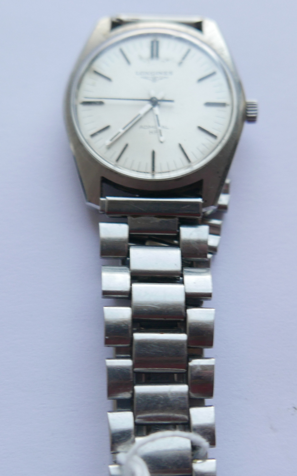 Lot 85 - Vintage Stainless Steel Longines Admiral HF Automatic Watch.