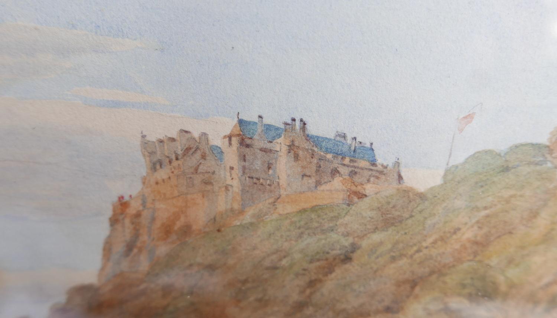 "Lot 50H - Victorian Watercolour of Stirling Castle - actual watercolour 19 1/2"" x 12 1/4""."