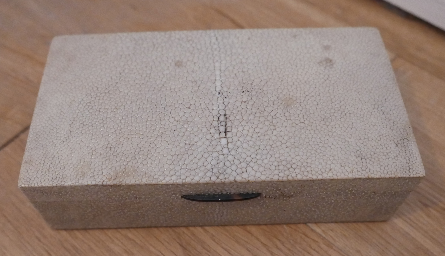 "Lot 83 - Lot of Snakeskin/Sharkskin Cigarette Box - 7 1/2"" x 4"" x 2 1/4"""