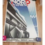 Lot 95 - 1980s French Nord Express Reprint Poster.