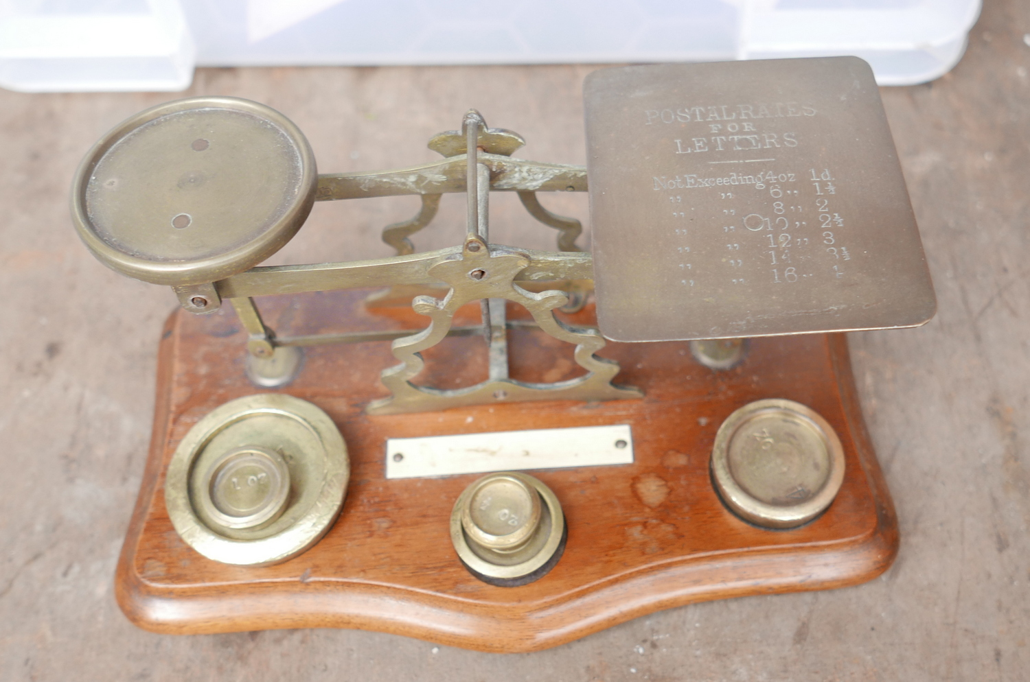 Lot 50S - Antique Postal Scales with Weights.