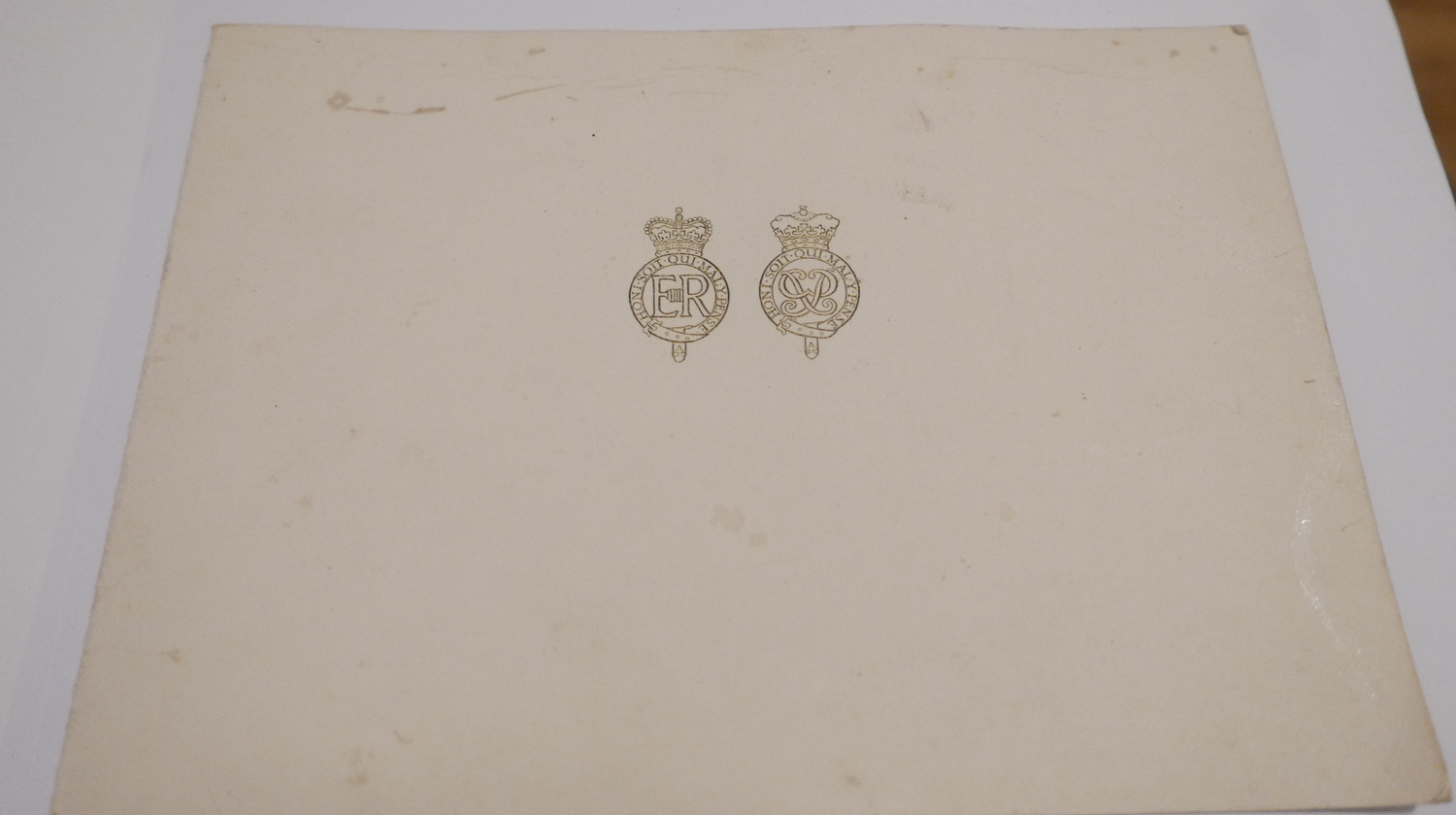 Lot 251 - Vintage Signed Elizabeth R and Philip Christmas/New Year Card 1964 with photograph of Family.