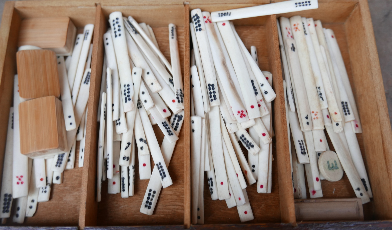 Lot 50M - Vintage Hamleys Boxed Mahjong Set.