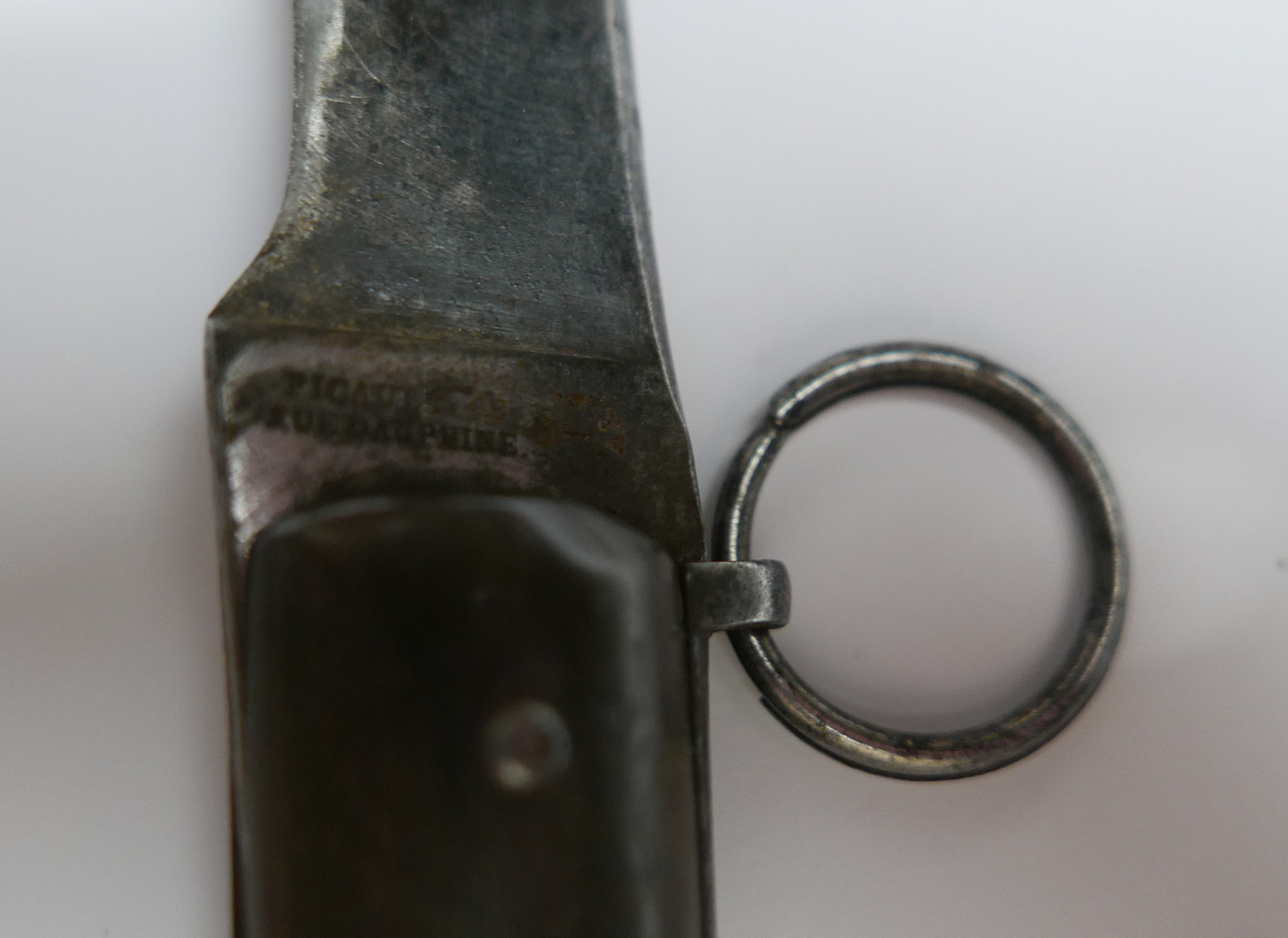 Lot 1 - Antique French Picault Locking Knife - 260mm open - 150mm closed.