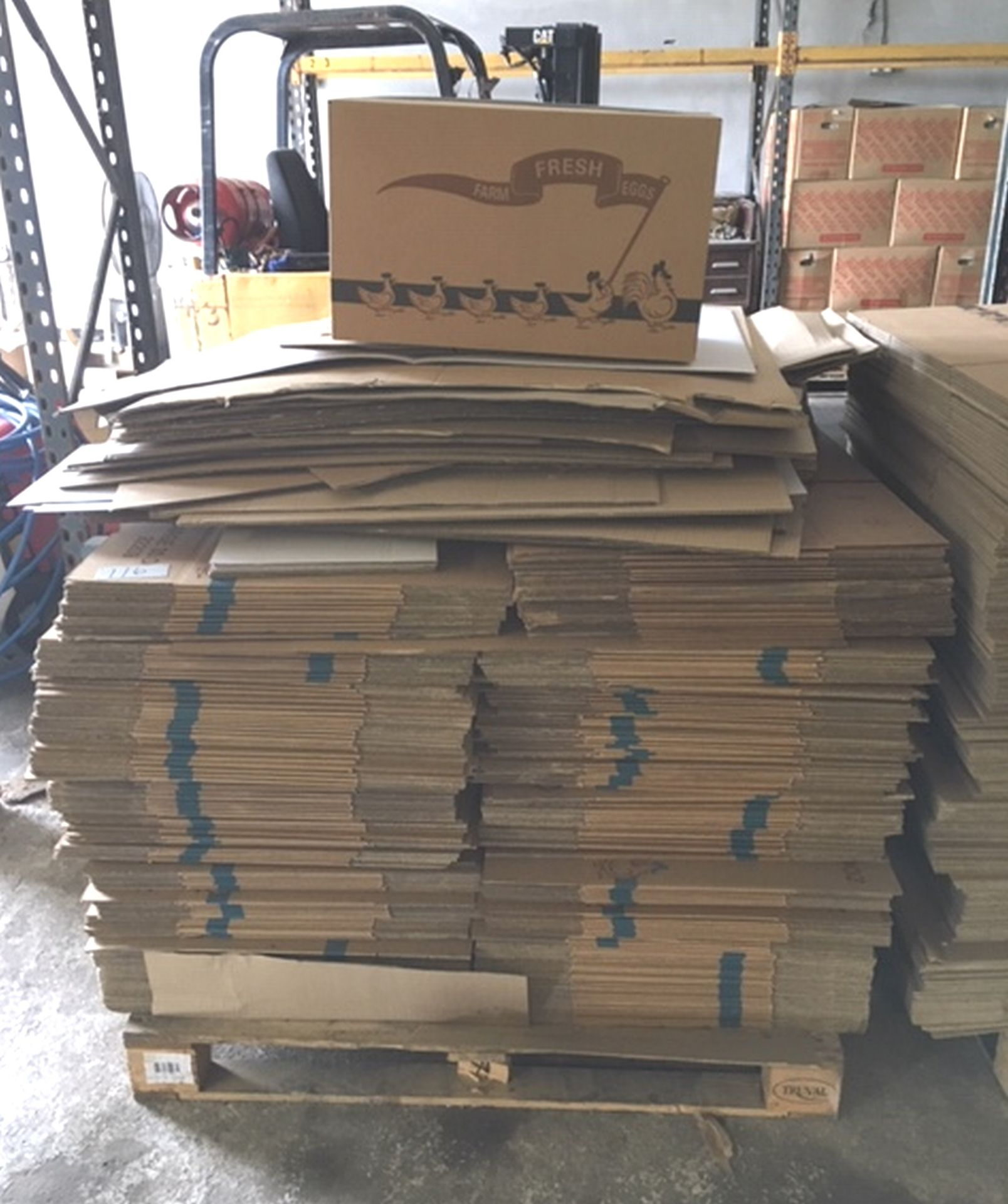 "Lot 116 - Pallet 2/3 full of Carboard Boxes approx 23 1/2"" x 14"" x 11 1/2""."