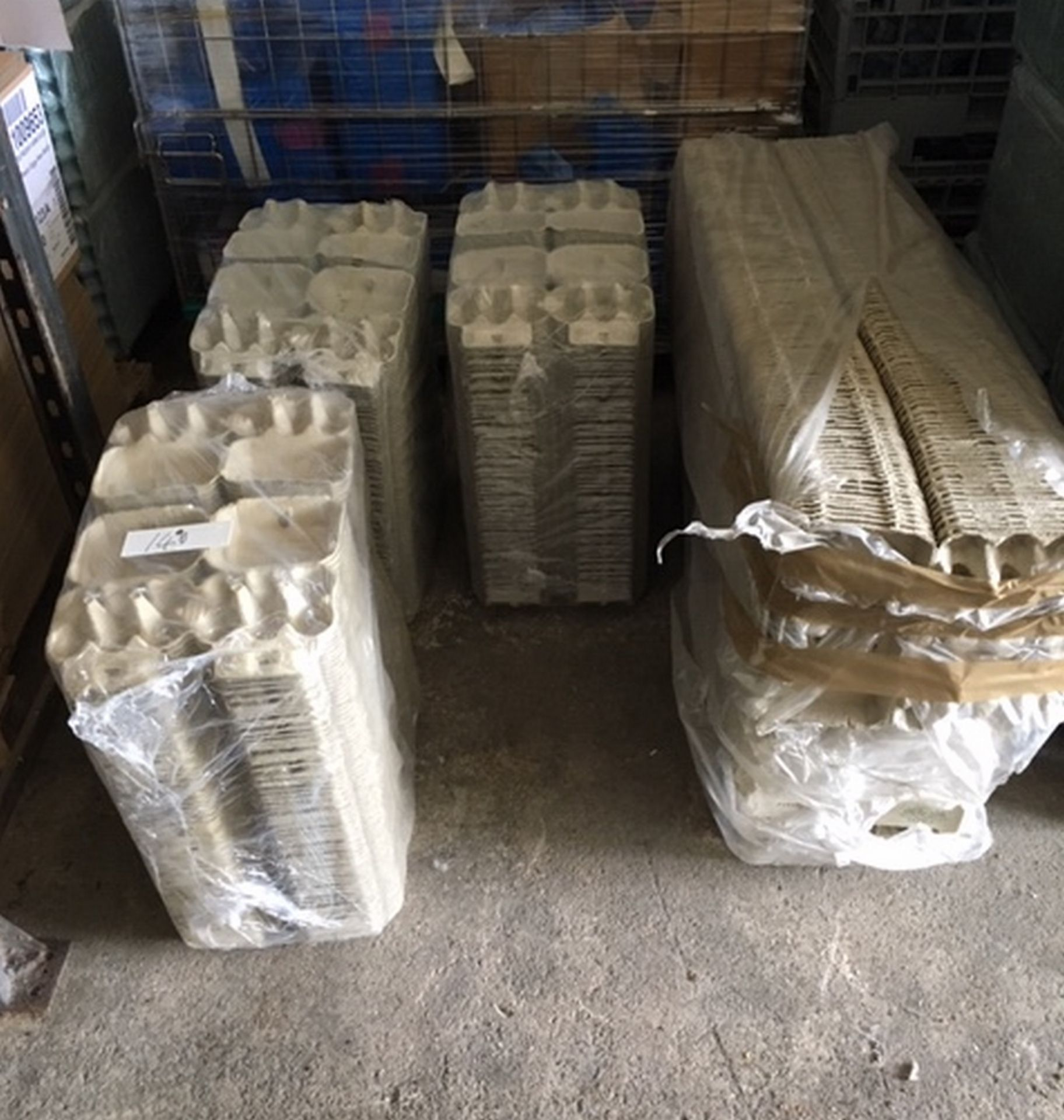 Lot 140 - Lot of 6 Egg and 12 Egg Closing Cartons.