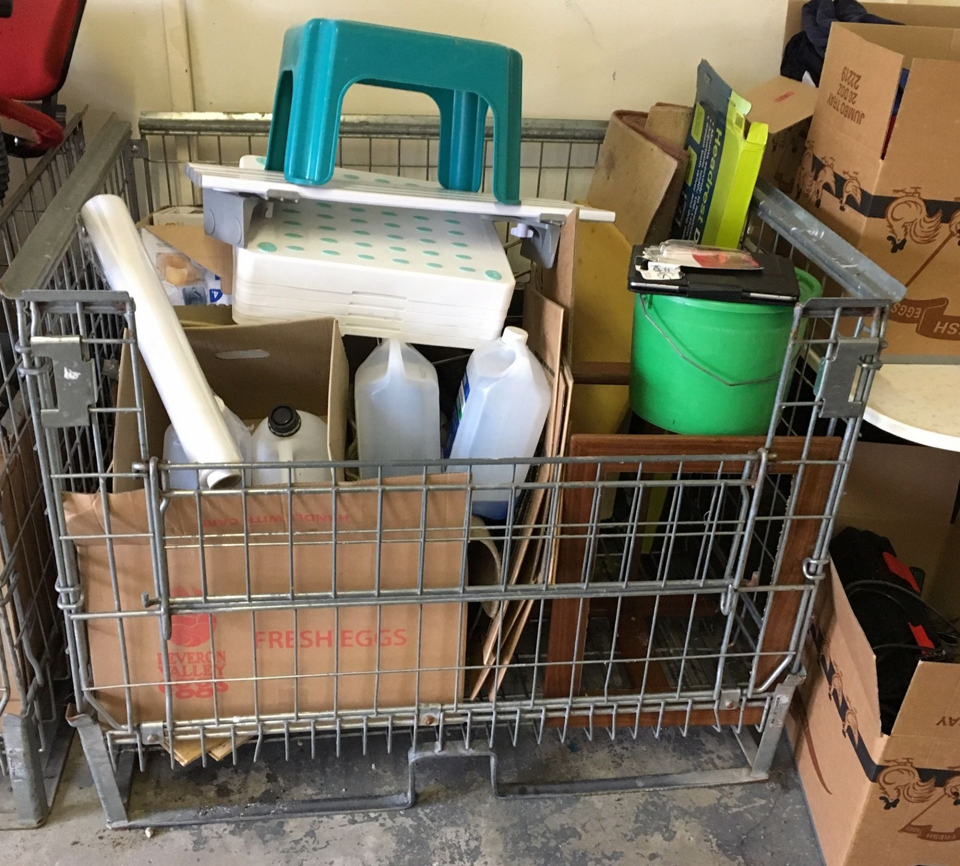Lot 55 - Steel Cage of Odd Items.