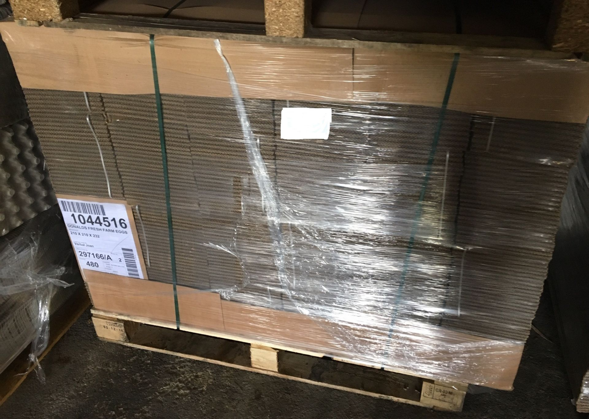 Lot 131 - Pallet of 480 Cardboard Boxes - 210mm x 210mm x 232mm.