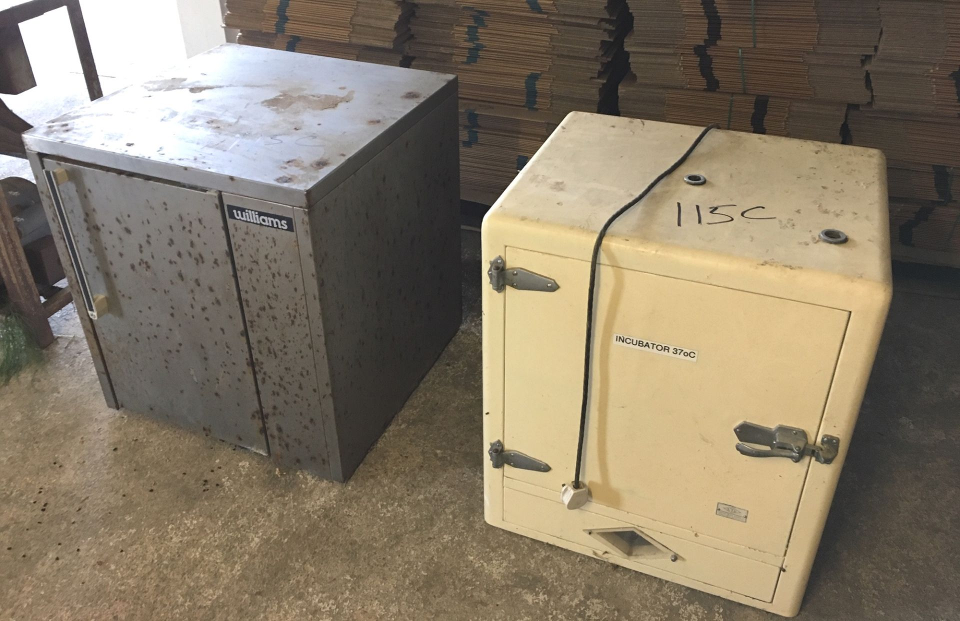 Lot 115C - Pair of Metal Incubator Units.