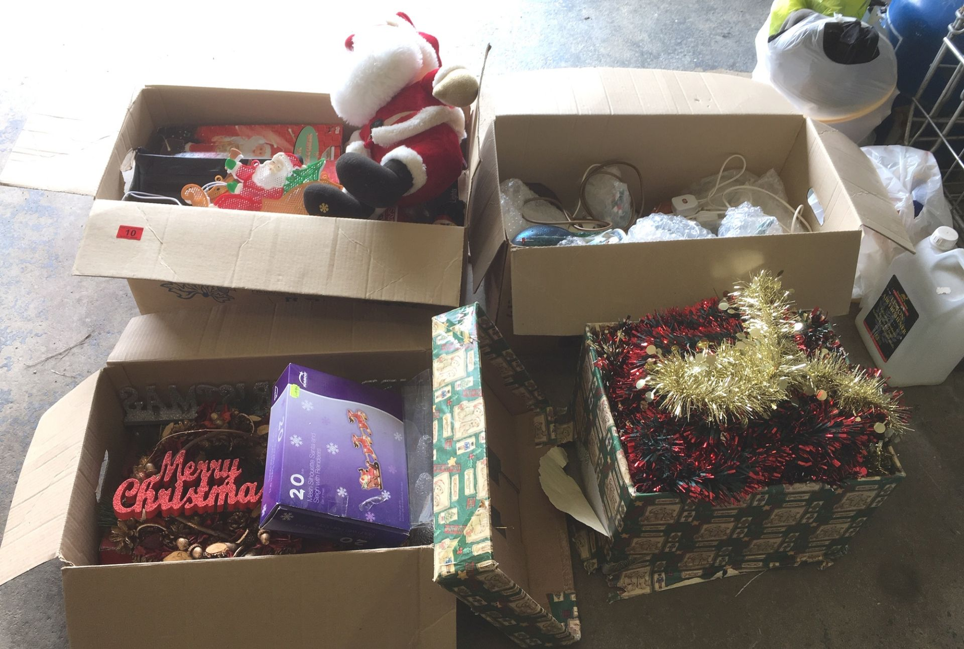 Lot 11 - 4 Boxes of Xmas Decorations.