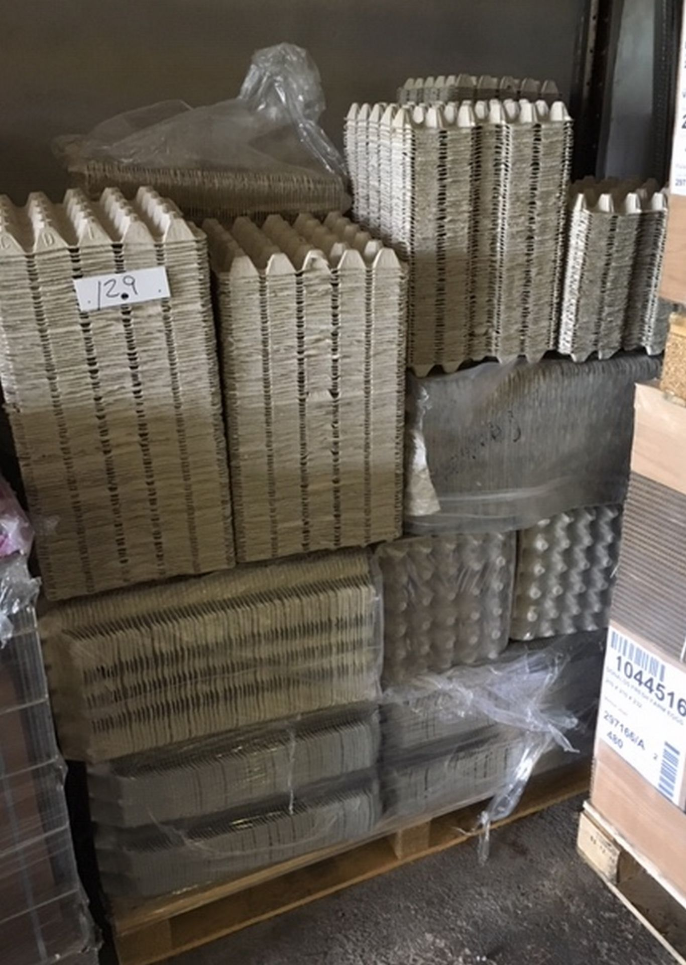 Lot 129 - Pallet of Egg Trays (20 eggs per tray)