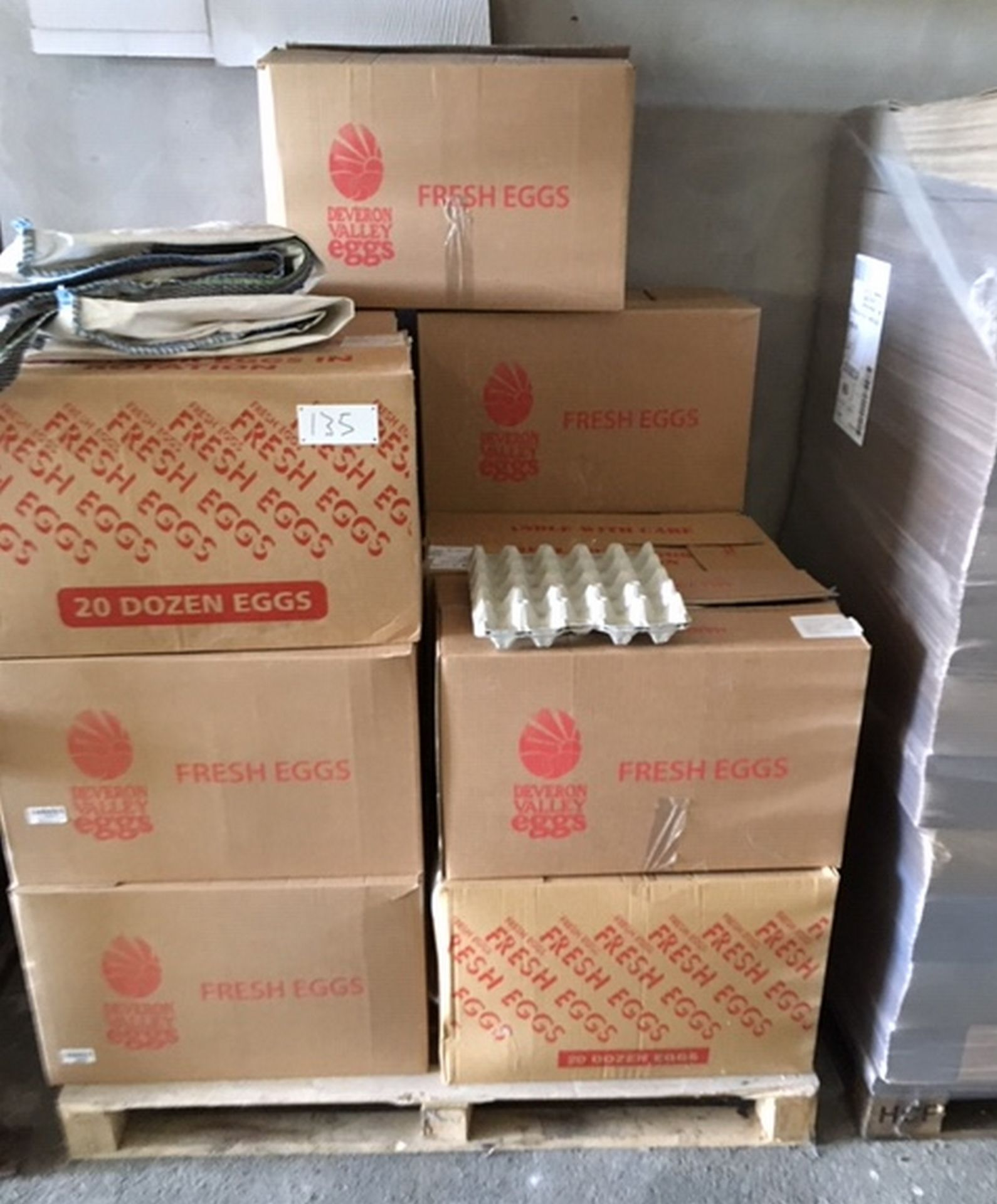 Lot 135 - Lot of 14 Boxes of Egg Cartons (20 egg trays).