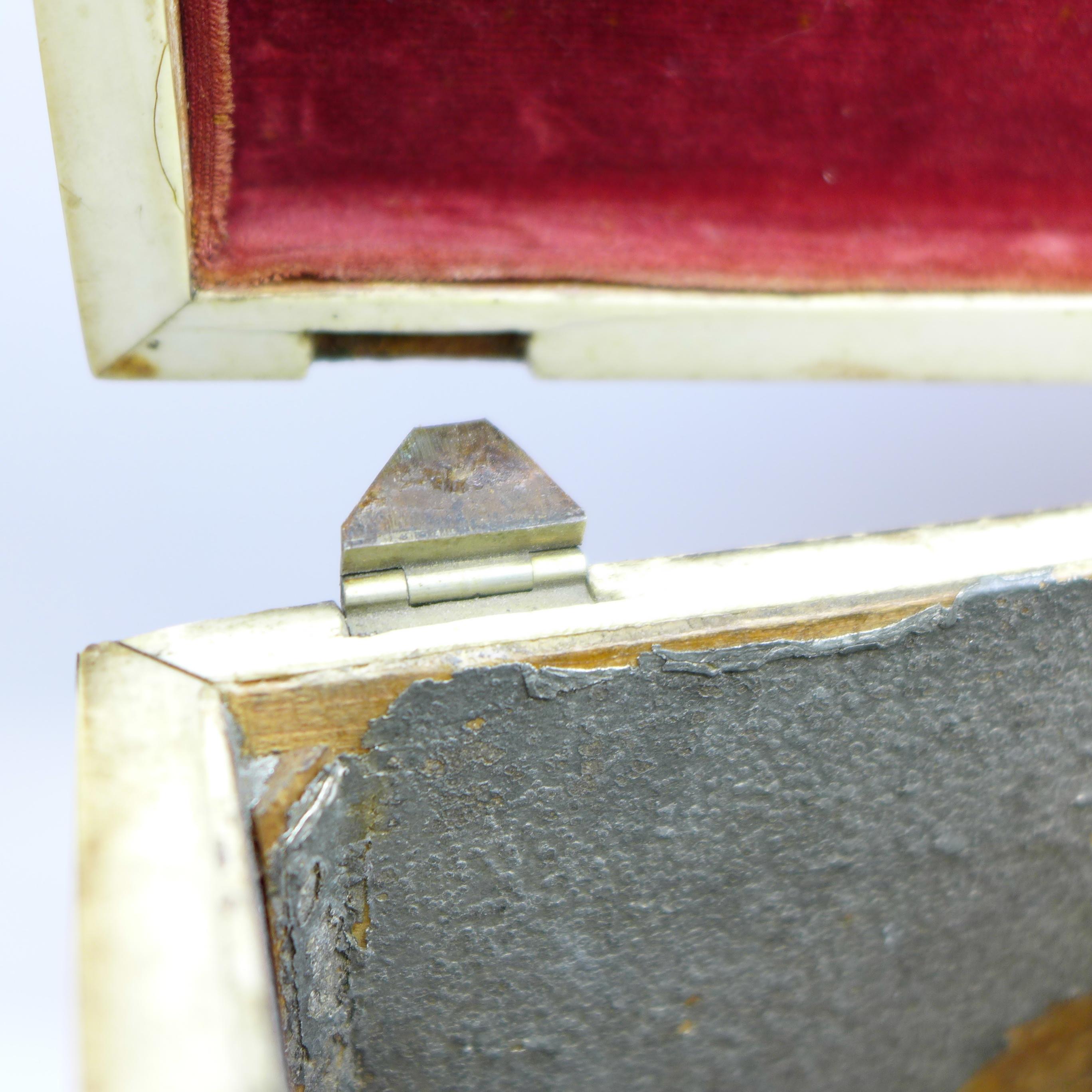 Lot 631 - A 19th Century tortoiseshell tea caddy,