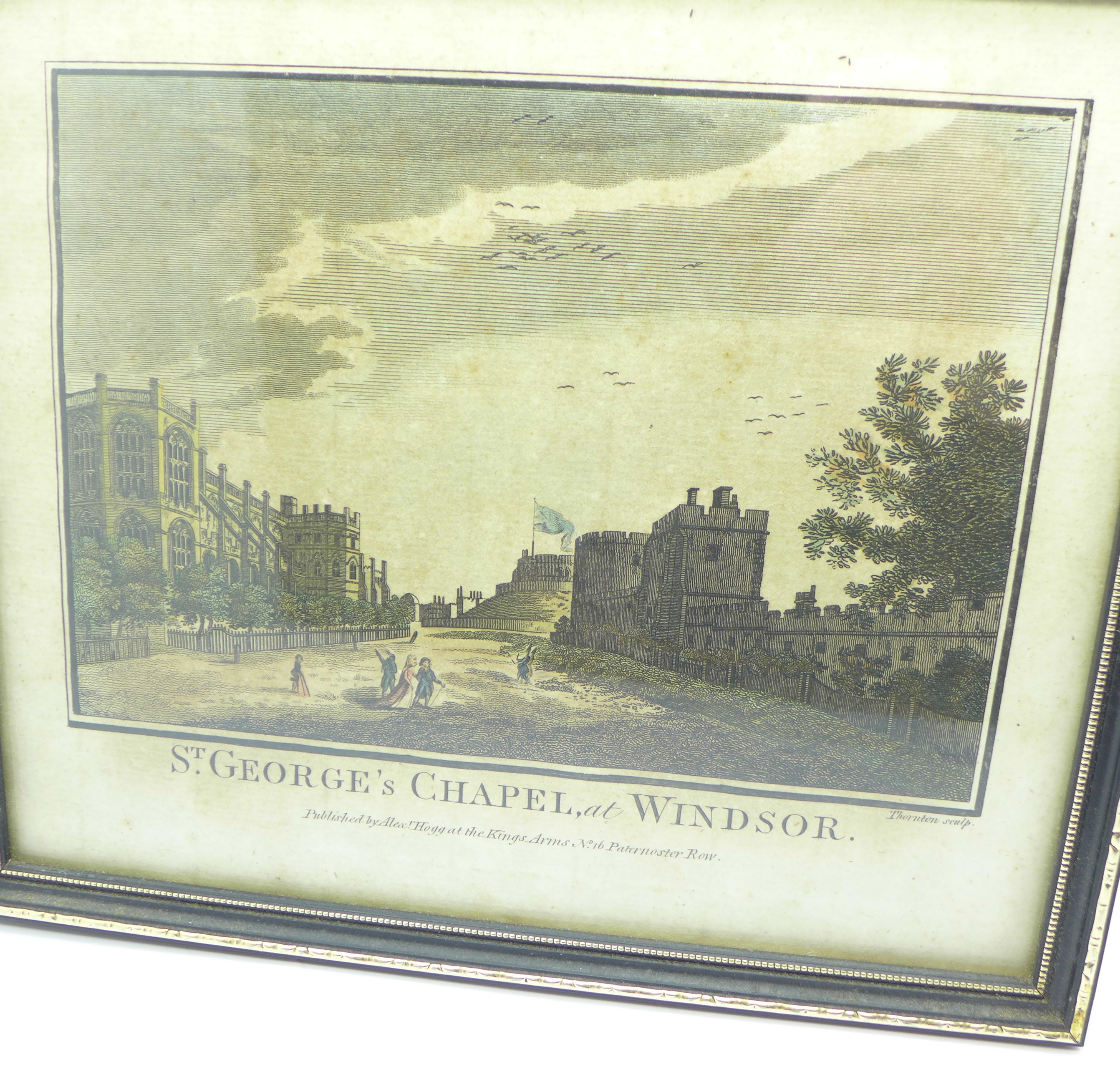 Lot 639 - A copper plate engraving, St.