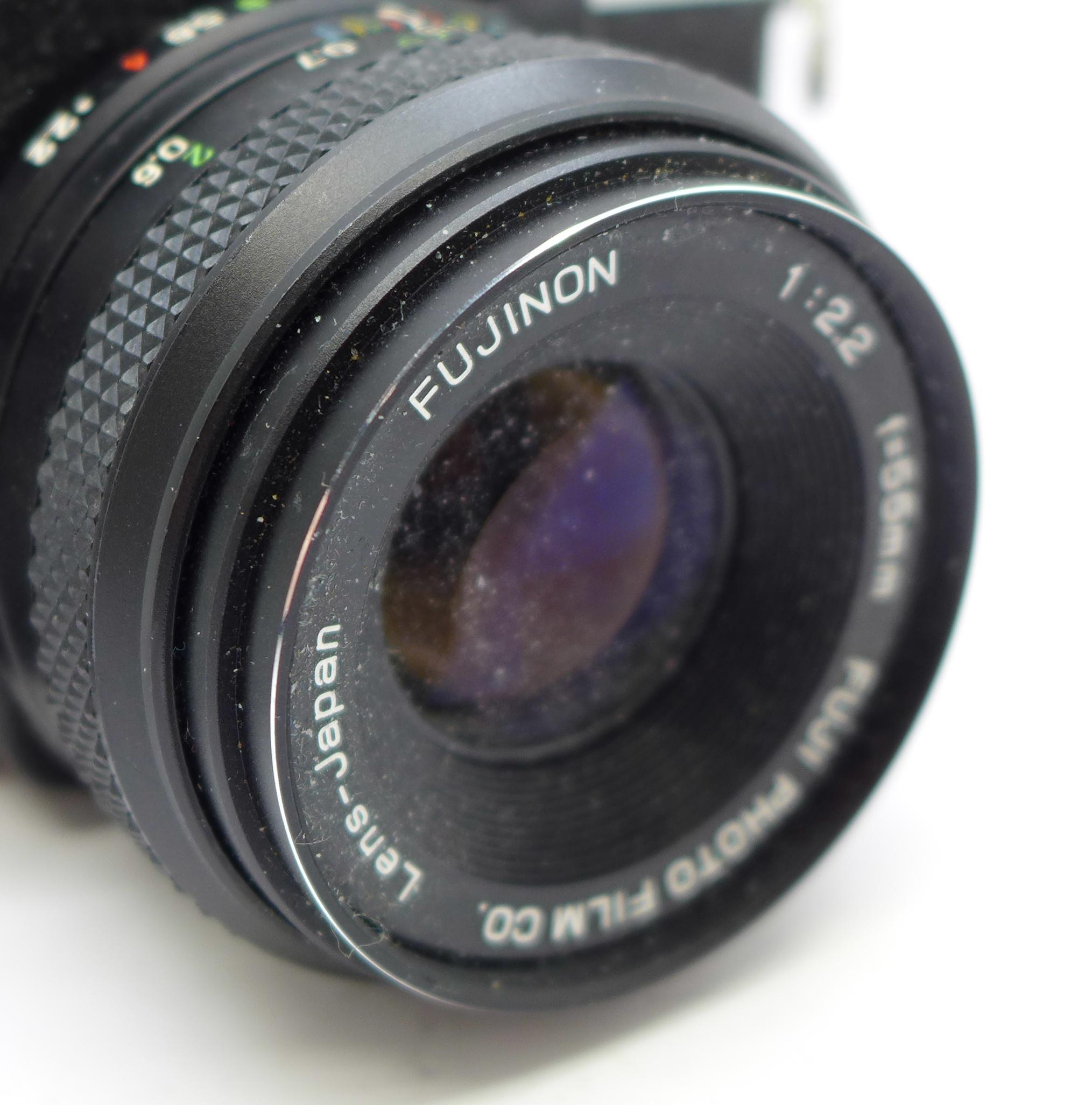 Lot 632 - A Fujica ST605 camera with Fujinon 55mm f2.