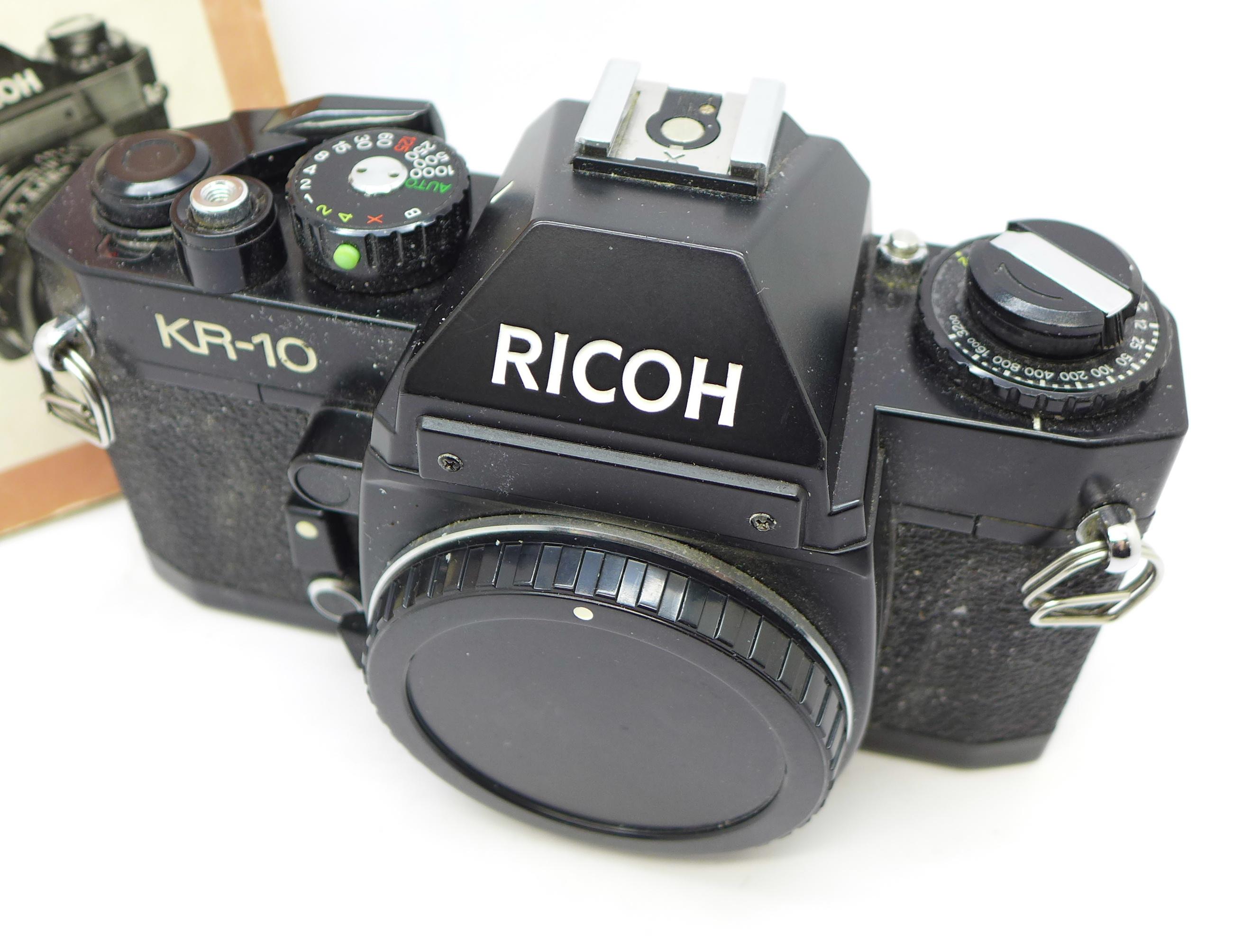 Lot 649 - A Ricoh KR-10 camera body and manual