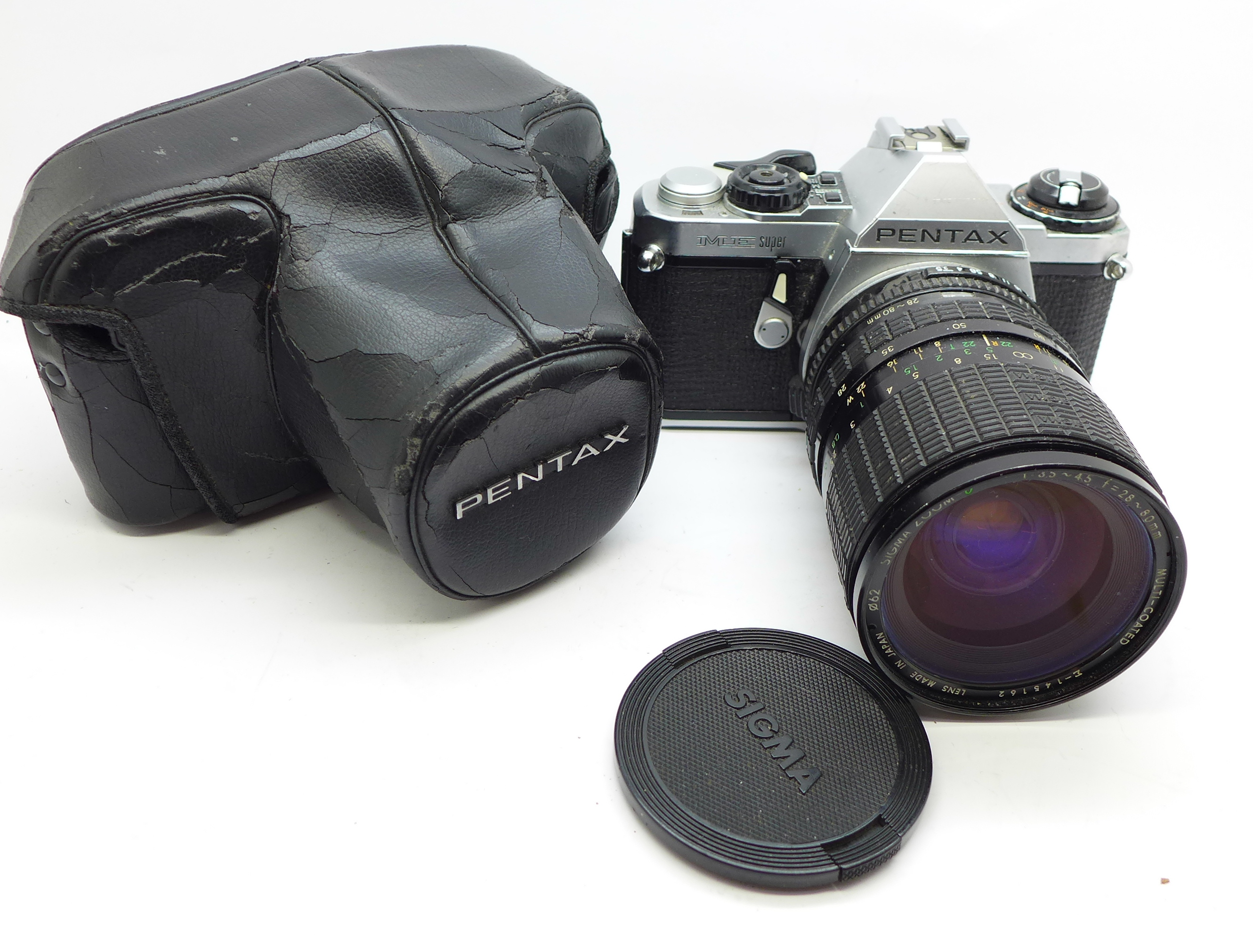 Lot 636 - A Pentax ME Super camera with Sigma 28-80mm f3.5-4.