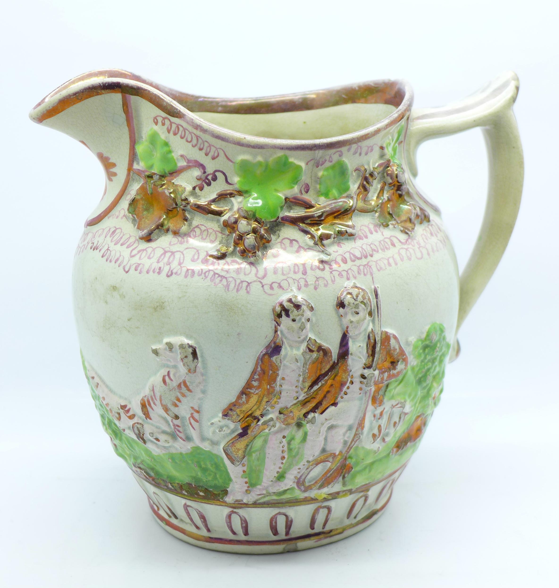 Lot 622 - An early lustre jug,