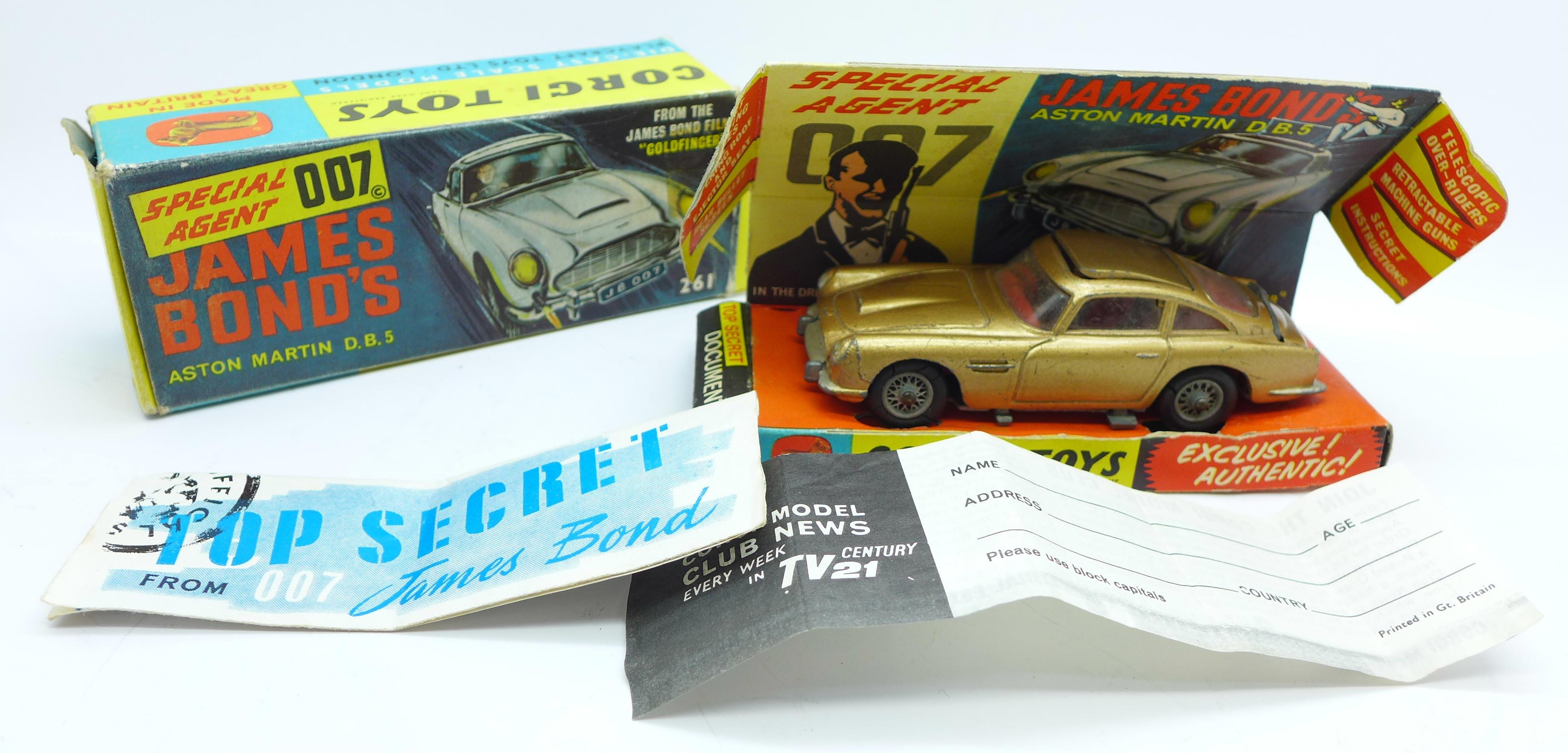 Lot 646 - A Corgi Toys 261 James Bond's Aston Martin DB5, boxed,