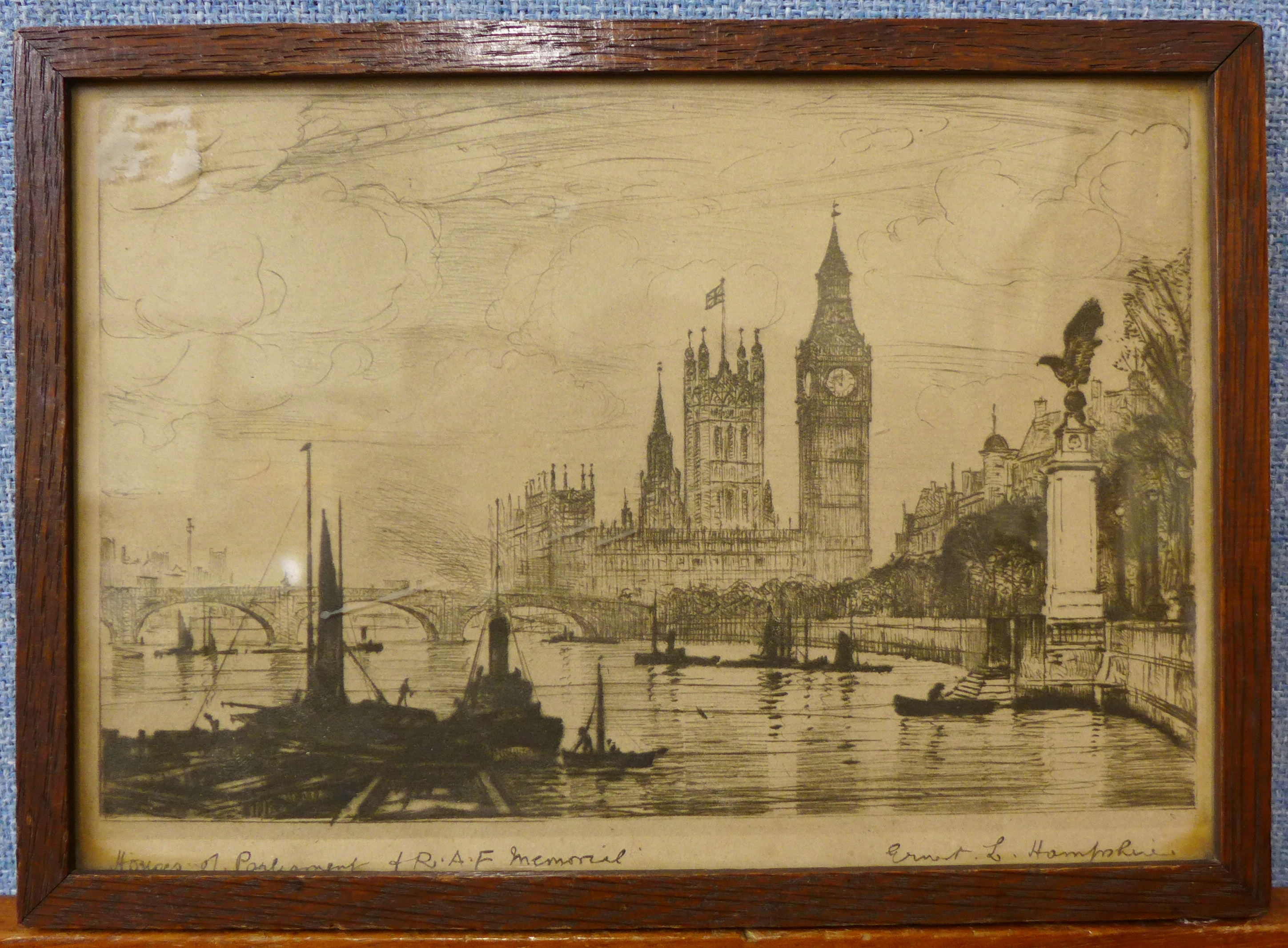 Lot 33 - Ernest L. Hampshire, Houses of Parliament and R.A.F.
