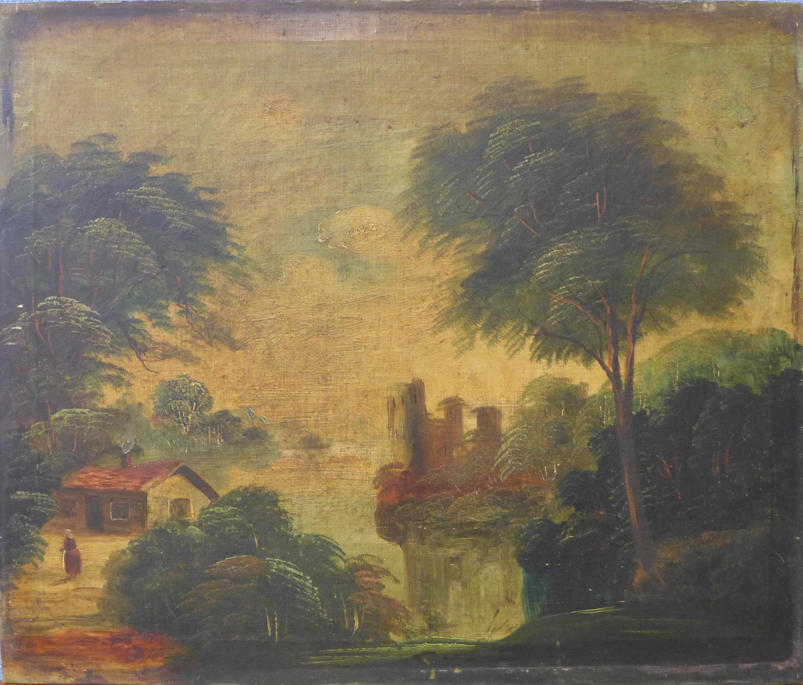 Lot 24 - English School (19th Century), landscape, oil on canvas, 51 x 61cms,