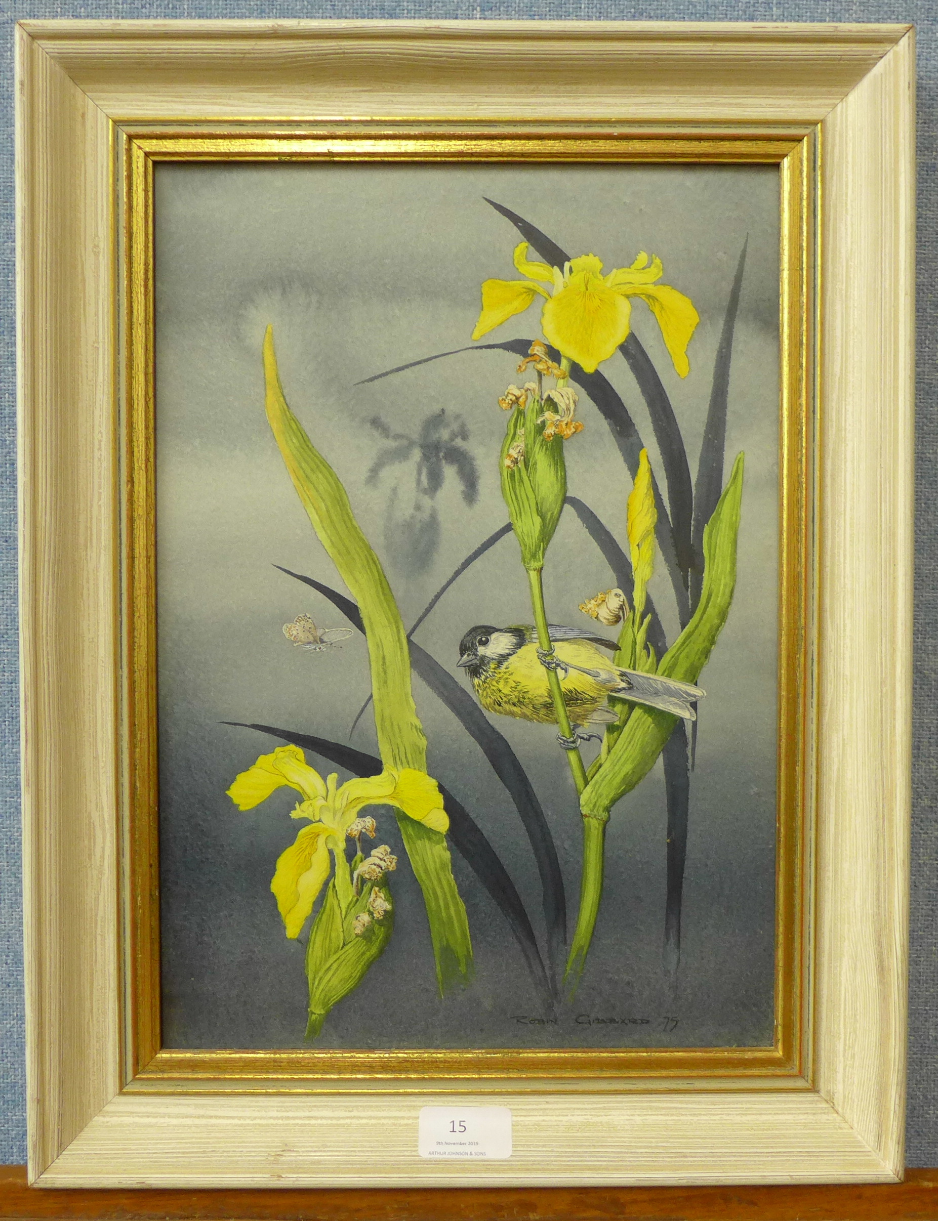 Lot 15 - Robin Gibbard (1930 - 2014), Summer Yellows, watercolour, 36 x 25cms,