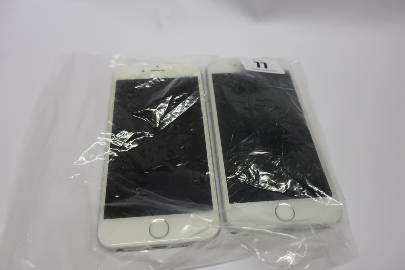Lot 77 - Two Apple iPhone 6 model A1586 (IMEI numbers: 359313066460548/ 3553930711290919) (Damaged screen