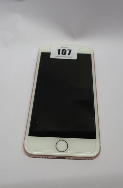 Lot 107 - An Apple iPhone 7 A1778 32GB (IMEI: 353806088390169) (Activation locked), (Sold for spares or