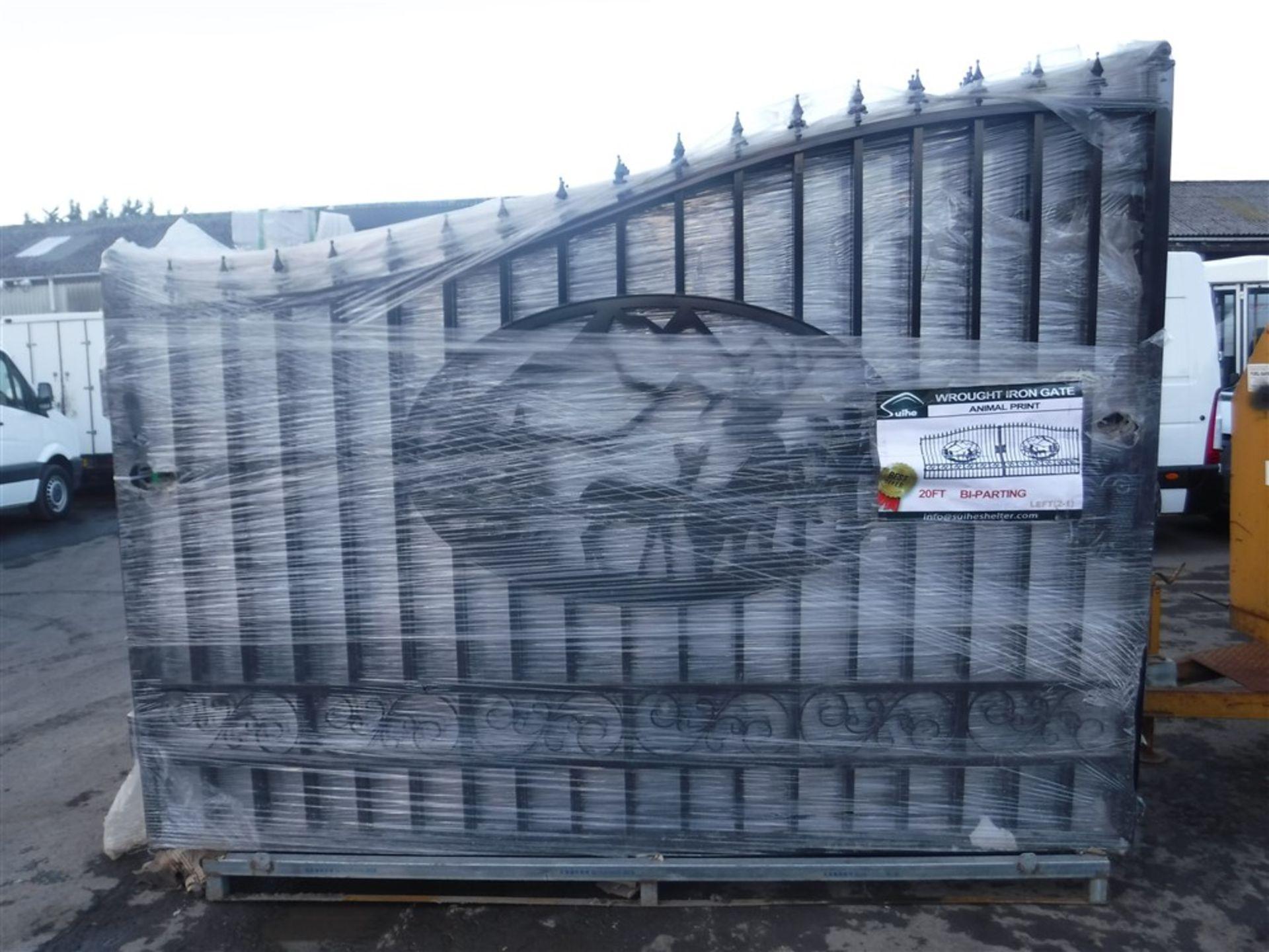 Lot 1159 - PAIR OF GATES [+ VAT]