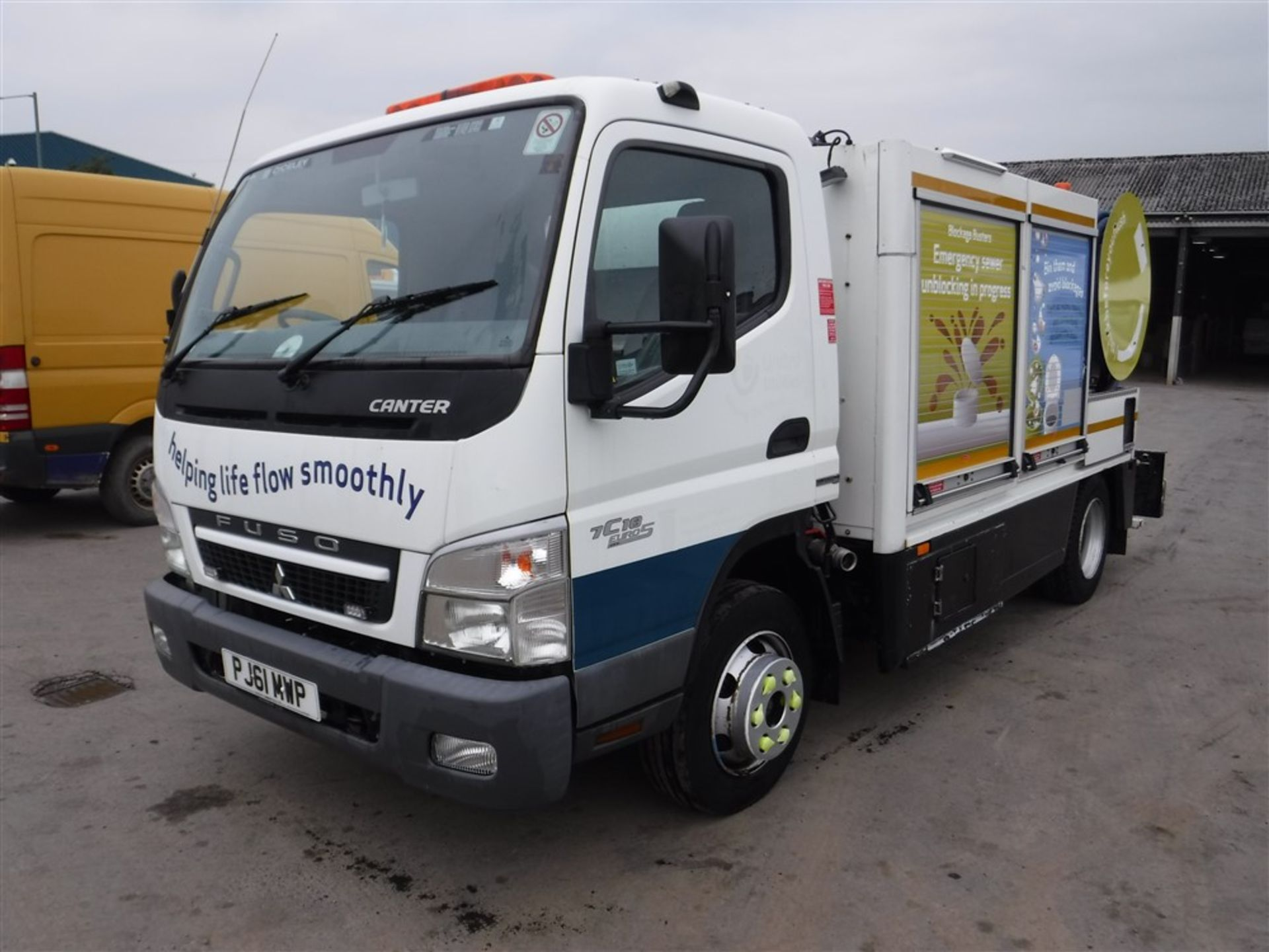 Lot 1216 - 61 reg MITSUBISHI FUSO CANTER 7C18 JET VAC TANKER (DIRECT UNITED UTILITIES) 1ST REG 02/12, 92441M,