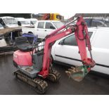 Lot 1173 - KOMATSU PC02-1 MICRO DIGGER, 2514 HOURS NOT WARRANTED [+ VAT]